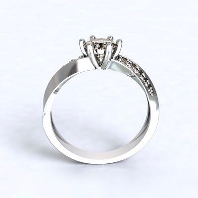Prsten Moon Light-e - bílé zlato s diamanty 14kt