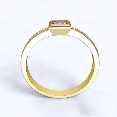 Zásnubní prsten Perama - žluté zlato 14kt s diamanty - 63