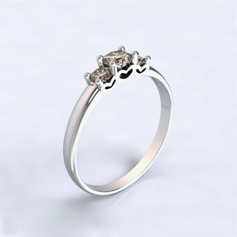 Prsten Salamina Bílé zlato 14kt s diamanty