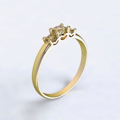 Prsten Salamina žluté zlato 14kt s diamanty