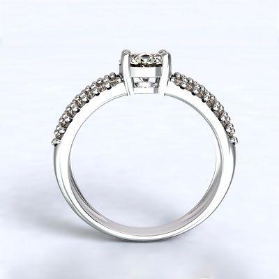 Prsten Trikala - bílé zlato 14kt s diamanty - 66