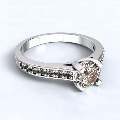 Prsten Veria - bílé zlato 14kt s diamanty