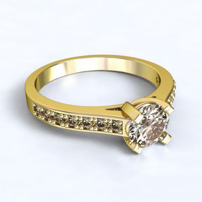 Prsten Veria - žluté zlato 14kt s diamanty