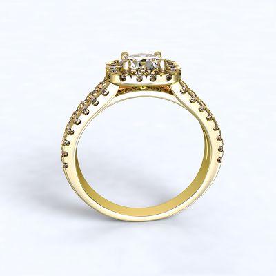 Prsten Zara - žluté zlato 14kt s diamnty - 47