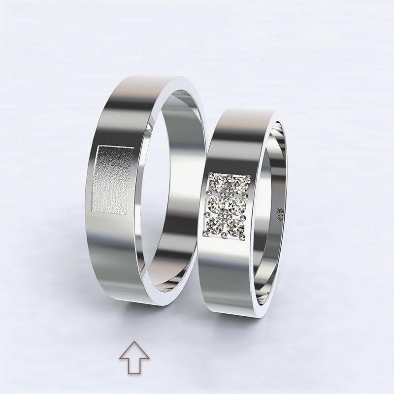 Pánský snubní prsten Purity bílé zlato 14kt