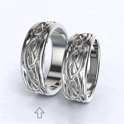 Pánský snubní prsten Tiberia bílé zlato 14kt