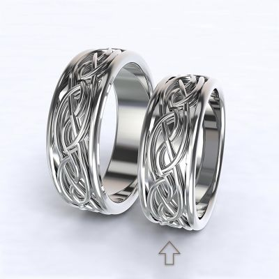 Dámský snubní prsten Tiberia bílé zlato 14kt