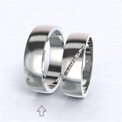 Pánský snubní prsten Trento bílé zlato 14kt