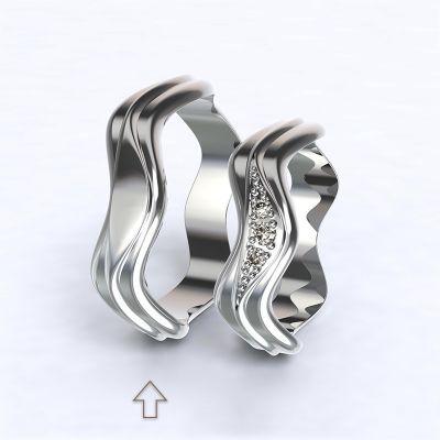Pánský snubní prsten Yafo bílé zlato 14kt