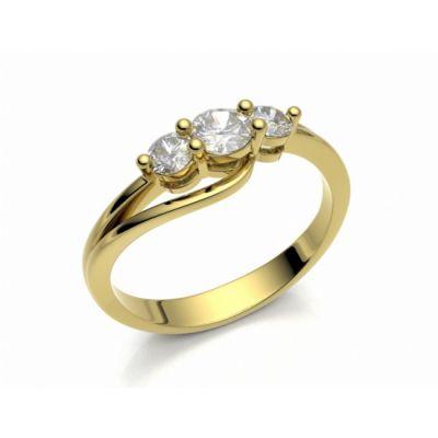Zásnubní prsten Florencie žluté zlato 14kt s diamanty