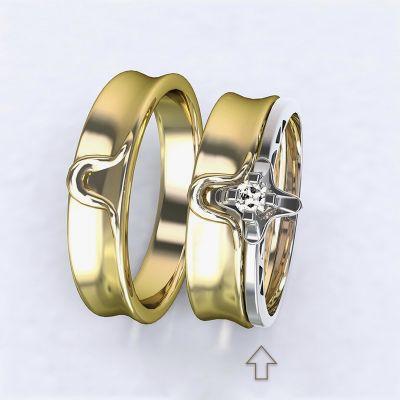 Zásnubní prsten Lausanne bílé zlato 14kt s diamantem
